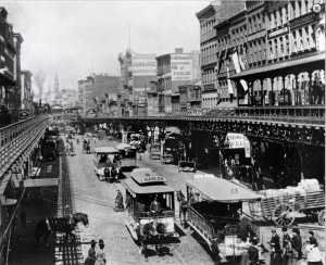 Bowery-Looking-North-From-Canal-Street-Circa-1880
