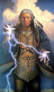 Shaman Controlling Energy