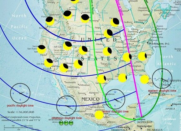 Oct 23 Eclipse from Earthsky.org