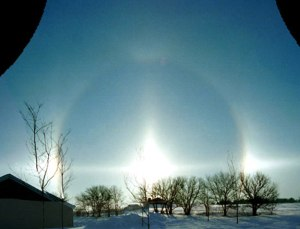 Sun Halo at Winter Solstace