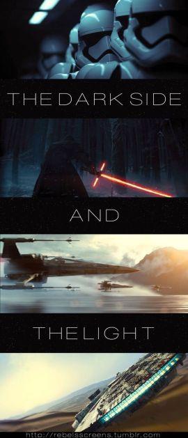 dark side and light