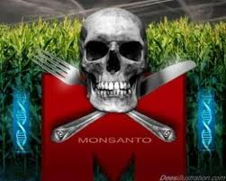Monsanto - Cool Skull and Bones