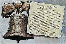 Liberty Bell and Constitution