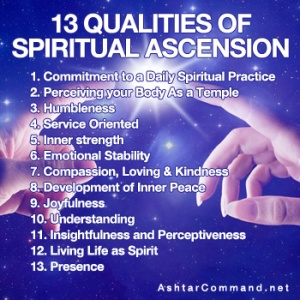 13 qualities spiritual ascension